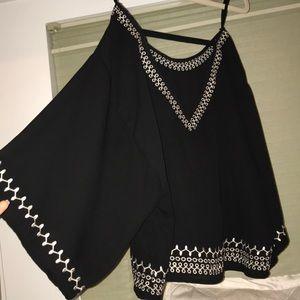 Flare sleeve blouse